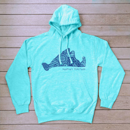 Blue Surf Collection Aztec Hoodie